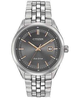 *BRAND NEW* Citizen Men's Eco-Drive Grey Dial Stainless Steel Watch BM7251-53H