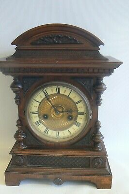 Vintage H.A.C. 14 day strike Mantel Clock No 1078 Wurttemberg Not Working