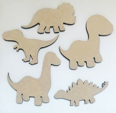 x9 MDF Dinosaur Animal Shapes Wooden 3mm MDF craft embellsihment