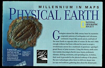 ⫸ 1999-10 October Millennium in Maps MILKY WAY National Geographic Map