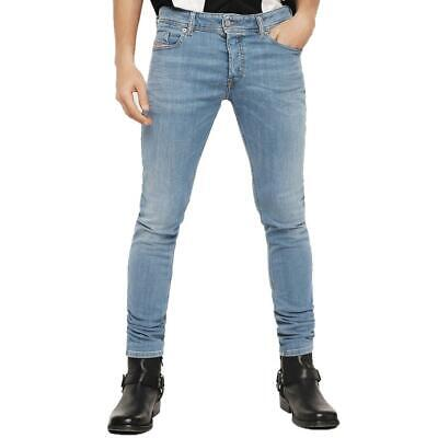 0cf49b4a DIESEL JEANS SLEENKER 0681N SKINNY Slim Fit Medium Blue Stretchy ...
