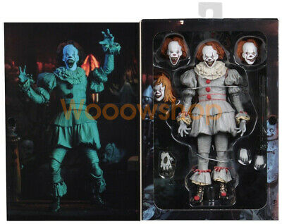 """IT Well House Ultimate Pennywise 2017 7"""" Action Figure 1:12 Scale Clown NECA New"""