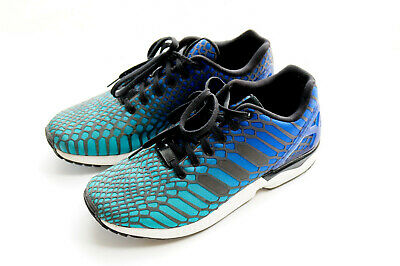6d5df43e4 Adidas Zx Flux Xeno Reflective Running Shoes Sneakers Aq7419 Men 9.5 Blue  Green
