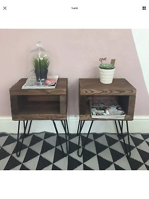 A Pair of Rustic bed side tables