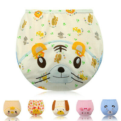 Cartoon Pee pants Toddler Boys Girls Underwear Toilet training Cotton Washable