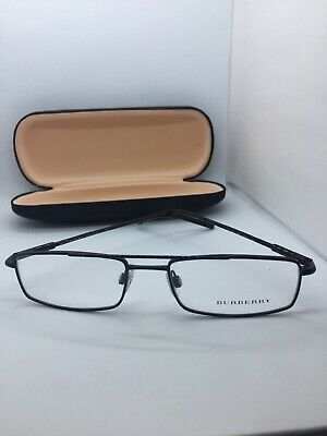 80ff6a6ca8ec New Authentic Burberry B 1185 1001 Black Metal Eyeglasses Frame 52-17-140  Italy