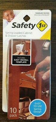 New Safety 1st -  Spring n' Release Latches - 10 Pack