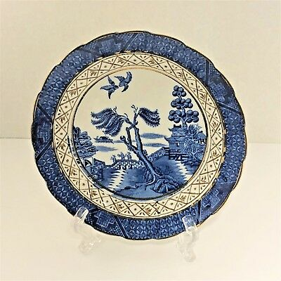"""Pre-A8025 Era Booths Real Old Willow 6"""" Plate Silicone China England Antique"""