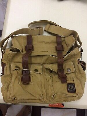 8fb31523fe Belstaff Colonial 556 554 90' Era Messenger Bag Khaki New W/O Tag Extremely