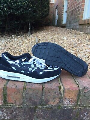 newest 35b46 64bfe Nike Air Max 1 GPX Mens 684174-100 White Black Athletic Running Shoes Size  12