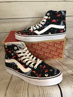 b9b7104e1aa NEW  FLAMINGO POOL Vibes VANS Sk8 Hi  NEW  Size 3.5 Men or 5.0 Women ...