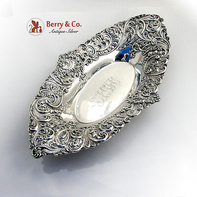 Ornate Bread Tray Sterling Silver Gorham Silversmiths 1890