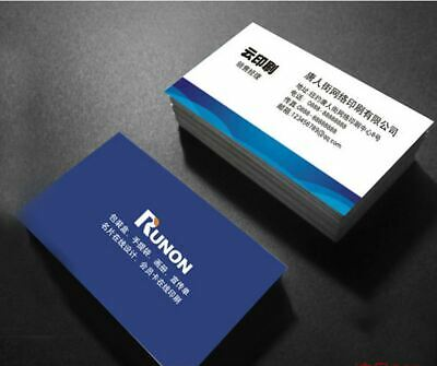 Business Cards 100 Pcs Name Card 2 sides color Printing & Shipping Free Via USPS