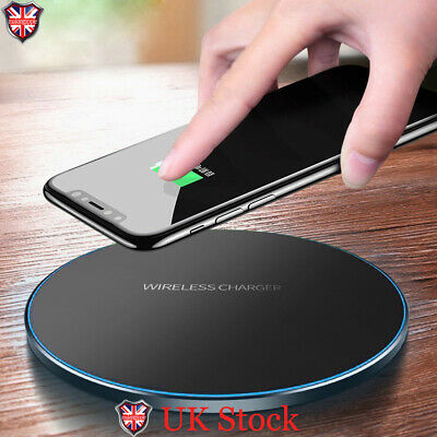 Qi Wireless Charger Dock Charging Pad For iPhone X 8 XR XS Samsung S8 S9 Plus