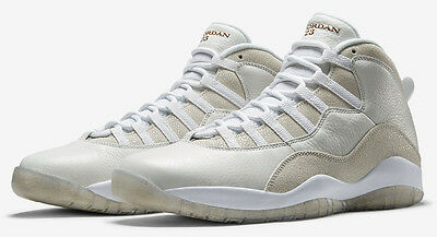 2016 Nike Air Jordan 10 X Retro OVO SZ 12 White Metallic Gold Drake 819955- a30e810ca