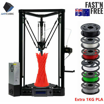 AU ANYCUBIC Kossel PLUS Linear 3D Printer Auto-Leveling 230×230×300mm + 1KG PLA