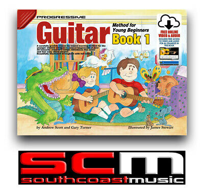 Progressive Guitar Method For Young Beginners Book 1 Audio & Video Learn to Play