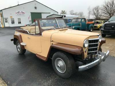 1950 Willys Jeepster -- 1950 Willys Jeepster 2 WD,Tan Convertible, TRI POWER, V8, Manual 3-Speed, Jeep