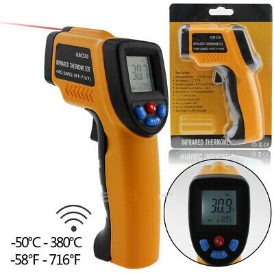 GM320 Non-Contact LCD IR Laser Infrared Digital Temperature Thermometer Gun AT
