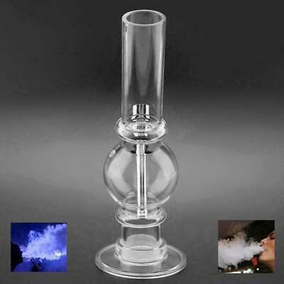 Handheld Transparent Hookah Bubbler Glass Water Bong Tobacco Pipe Smoking Bowl