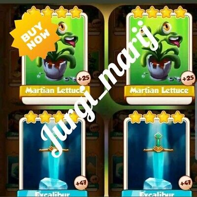 2 Martian Lettuce & 2 Excalibur :- Coin Master Combo Pack(Get in Minutes)