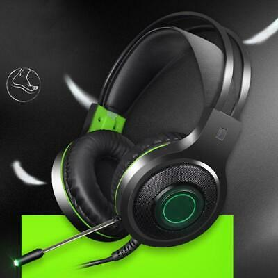 Gaming Headset Mic 7.1 Surround Sound Stereo Bass Headphones USB for PC Laptop