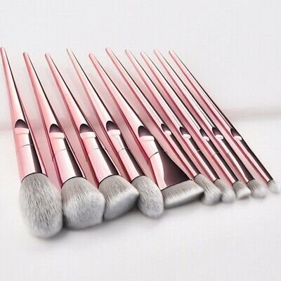 10pcs Pennelli trucco Set Blush Powder Blush Beauty Cosmetici Make Up Brush