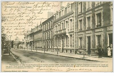08 MEZIERES. Rue Forest 1908. Timbre manquant verso...(394)
