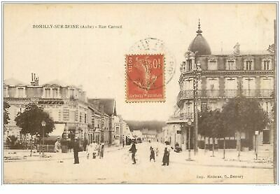 10 ROMILLY-SUR-SEINE. Tabac Rue Carnot 1917(831)