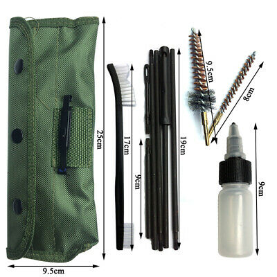 11 PCS .223 5.56 Rifle CLEANING KIT with 3 Bronze CHAMBER BRUSHES w/ Case