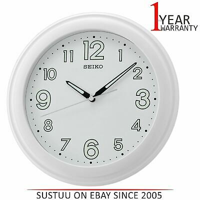 Seiko LumiBrite Wall Clock With Large Number│Plastic Case Material│White│QXA721W