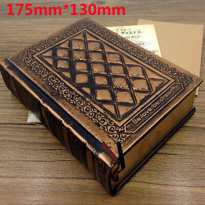 Retro Vintage Journal Notebook Blank Hard Cover Leather Diary Sketchbook Paper