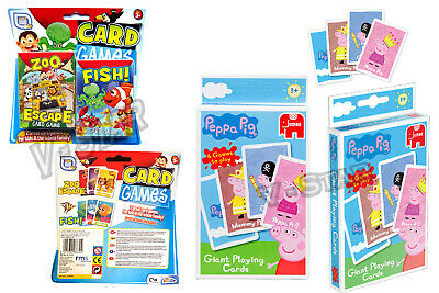 Children/'s Card Games Pack of 2 Zoo Escape /& Fish