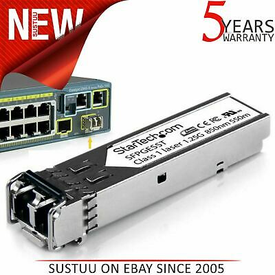 StarTech.com 1000BASE-SX Gigabit SFP Fiber Module│Cisco SFP-GE-S Compatible│NEW
