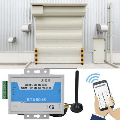 Wireless GSM Gate Door Opener SMS Access Phone Remote Control Relay Switch APP