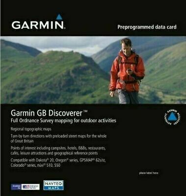 Garmin GB Discoverer Great Britain Topographic Maps SD Card 1:50k