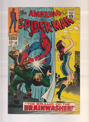 Amazing Spider-Man # 59  Brand of the Brainwasher !  grade 7.0 scarce book !