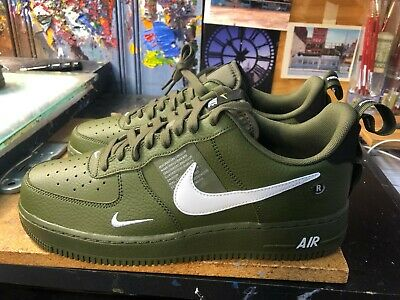 new style 17f09 541f7 Nike Air Force 1  07 LV8 Utility Olive Canvas Size US 11.5 Men s AJ7747 300