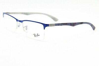 5d246040644 New Ray-Ban Rb 8413 2891 Blue Authentic Eyeglasses Frame Rx Rb8413 54-18