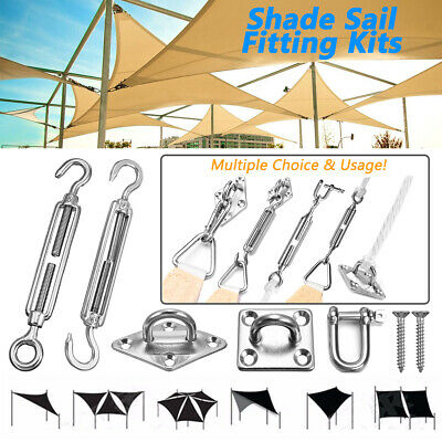 Stainless Steel Sun Sail Shade Canopy Fixing Fitting Accessory Kit Awning Canopy