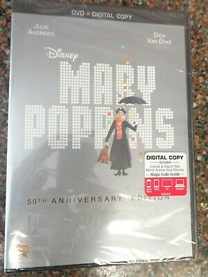 Mary Poppins (DVD, 50th Anniversary) 786936836134 New Factory Sealed Disney