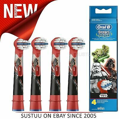 Oral-B Stages Power Replacement Toothbrush Heads (Pack of 4)│Kids Star Wars│NEW