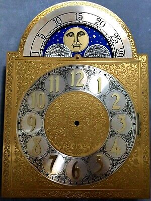 Fine Quality Machined Engraved Brass Moving Moon Dial - 300Mm X 300Mm X 418Mm