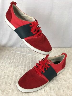 73bb287a9b2 Puma Mens Shoes Size 12 Leather Suede Red Eco OrthoLite Sneakers