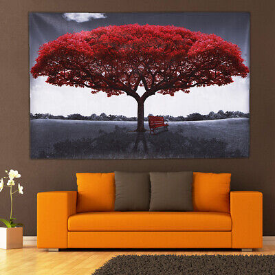Large Red Tree Canvas Modern Home Wall Decor Art Paintings Picture Print No