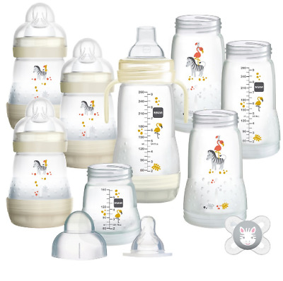 Brand new Mam easy start anti-colic bottle starter 15 piece set in ivory