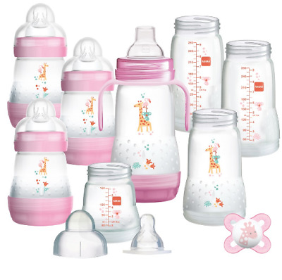 Brand new Mam easy start anti-colic bottle starter 15 piece set in pink
