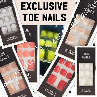 PS... Primark False Toe Nails Fake Stick On Adhesive Women Beauty Feet Party NEW