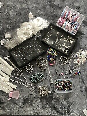 Job Lot. Mixed Jewellery Over 550 Pieces Pendants,Bracelets, Rings, Bangles