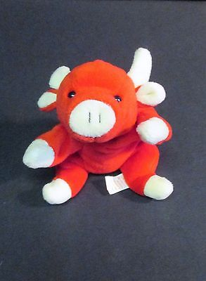 Ty Plush Bean Bag Beanie Babies Collection Snort The Red Bull 1995